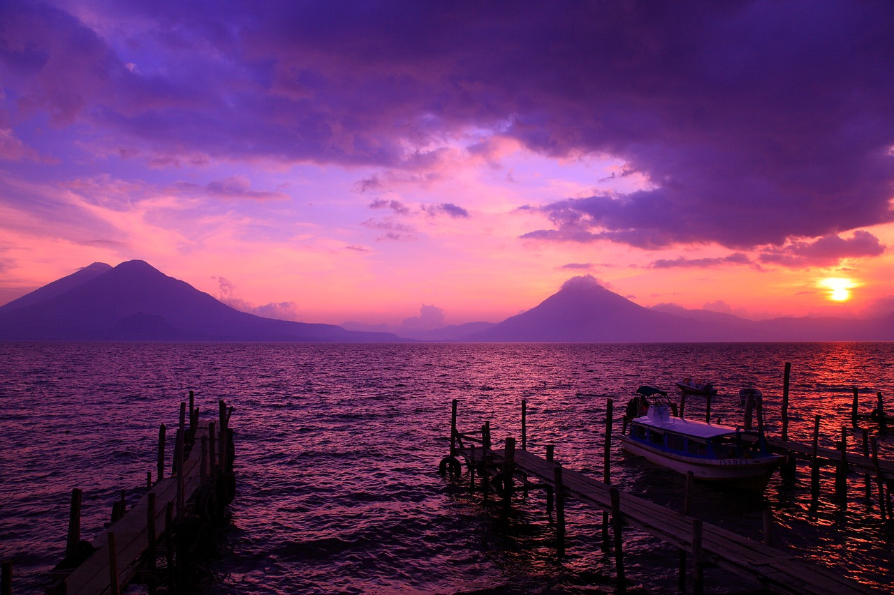 coucher de soleil guatemala