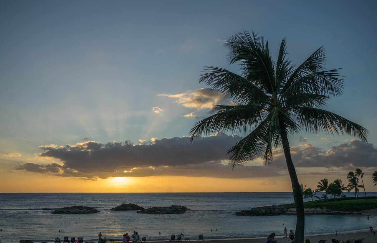 coucher de soleil Hawai