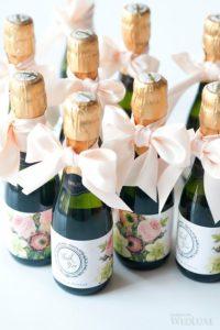mini bouteille de champagne