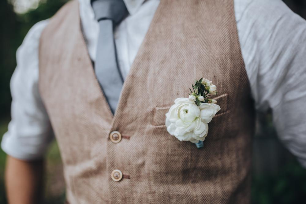 marié mariage champêtre tenue